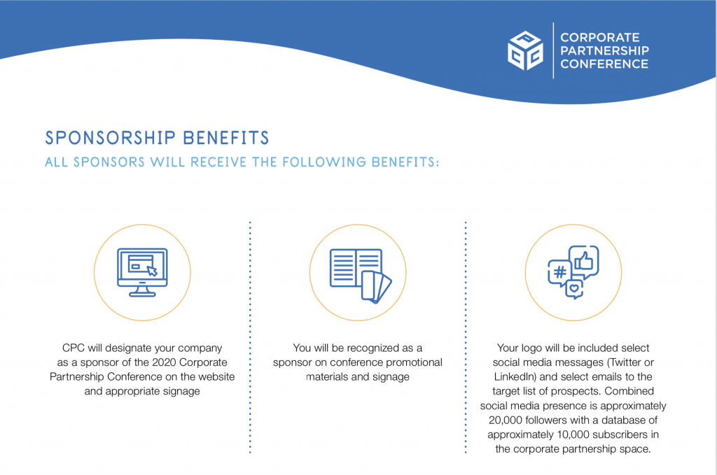 Sponsorship Level and Benefits Example